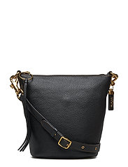 Glovetanned Pebble Leather Duffle 20 - B4/BLACK LEATHER