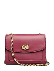 Refined Calf Leather Parker 18 Shoulder Bag - B4/DEEP RED