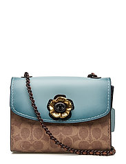 Colorblock Multi Coated Canvas Signature With Mixed Leather  - BP/LIGHT TURQUOISE LEATHER