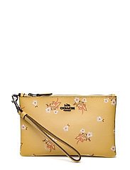 Floral Bow Small Wristlet - DK/SUNFLOWER FLORAL BOW