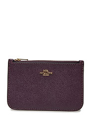 Colorblock Zip Card Case - LI/PLUM MULTI PU SPLIT LEATHER