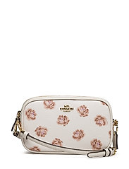 Rose Print Crossbody Clutch - LI/CHALK ROSE PRINT