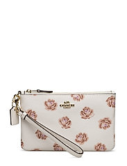 Rose Print Small Wristlet - LI/CHALK ROSE PRINT
