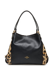 Leopard Print Blocked With Rivets Edie 31 Shoulder Bag - B4/LEOPARD LEATHER