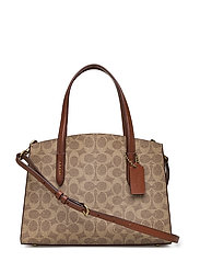 Coated Canvas Signature Charlie 28 Carryall - B4/RUST