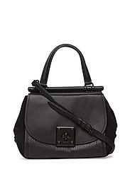Mixed Leather Drifter Top Handle - MW/BLACK