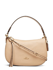 Polished Pebble Leather Sutton Crossbody - GD/BEECHWOOD