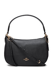 Polished Pebble Leather Sutton Crossbody - GD/BLACK