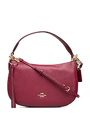 Polished Pebble Leather Sutton Crossbody - GD/DEEP RED