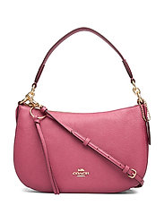Polished Pebble Leather Sutton Crossbody - GD/DUSTY PINK