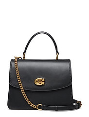 Refined Calf Leather Parker Top Handle - B4/BLACK