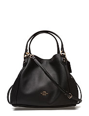 Polished Pebble Lthr Edie 28 Shoulder Bag - LI/BLACK