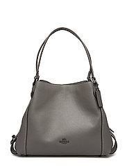 Polished Pebble Lthr Edie 31 Shoulder Bag - DK/HEATHER GREY