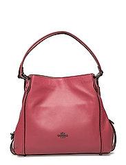 Polished Pebble Lthr Edie 31 Shoulder Bag - DK/ROUGE