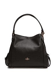 Polished Pebble Lthr Edie 31 Shoulder Bag - LI/BLACK