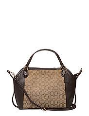 Signature Edie 28 Shoulder Bag - LI/KHAKI/BROWN