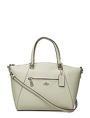 Polished Pebbled Lthr Prairie Satchel - SV/PALE GREEN