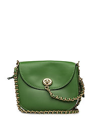 Glovetanned Leather Turnlock Saddle Bag - OL/KELLY GREEN