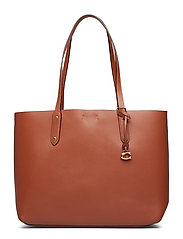 Refined Calf Leather Central Tote - GD/1941 SADDLE