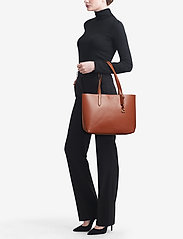 Coach - Refined Calf Leather Central Tote - fashion shoppers - gd/1941 saddle - 1