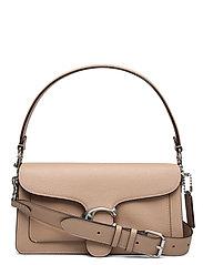 Polished Pebble Leather Tabby Shoulder Bag 26 - BEIGE