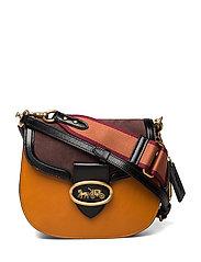 Colorblock Mixed Leather Kat Saddle Bag 20 - B4PN6