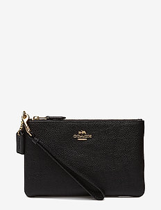 Polished Pebble Small Wristlet - clutches - li/black