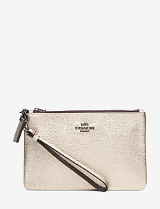 Metallic Small Wristlet - clutches - gm/platinum