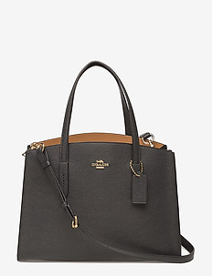 Polished Pebble Leather Charlie Carryall - LI/BLACK