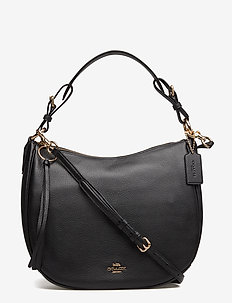 Polished Pebble Leather Sutton Hobo - GD/BLACK