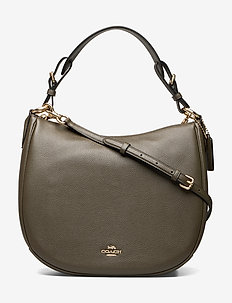 Polished Pebble Leather Sutton Hobo - GREEN