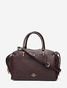 Mixed Leather Drew Satchel - RED