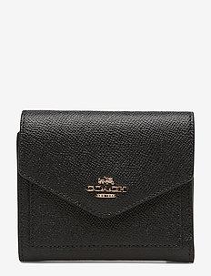 Crossgrain Leather Small Wallet - LI/BLACK