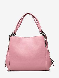 Polished Pebble Lthr Dalton 28 Shoulder Bag - axelremsväskor - pink