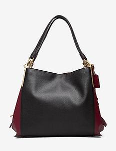 Colorblock Mixed Leather Dalton 31 Shoulder Bag - bucket-laukut - b4/black multi