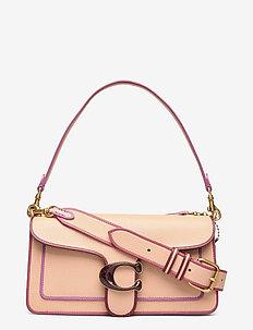 Edgepaint Leather with Resin C Closure Tabby Shoulder Bag 26 - top handle - b4/beechwood