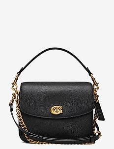 CASSIE CROSSBODY 19 Leather Womens Bags - väskor - b4/bk