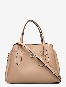 LORA CARRYALL 30 Leather Womens Bags - top handle - beige