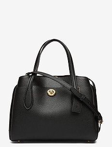 LORA CARRYALL 30 Leather Womens Bags - top handle - black
