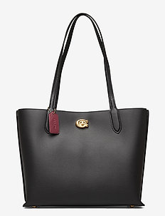 WILLOW TOTE Leather Womens Bags - shoppers - black