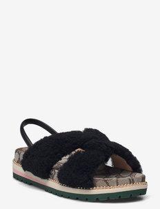 TALLY SANDAL - platta sandaler - black