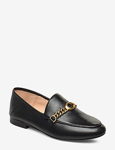 Helena C Chain Loafer- Leather - BLACK
