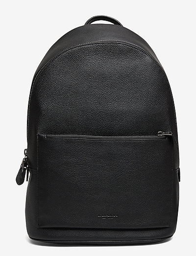 METROPOLITAN SOFT BACKPACK Textured Leather Mens Bags - väskor - qb/bk