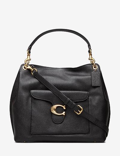 Polished Pebble Leather Tabby Hobo - väskor - b4/black