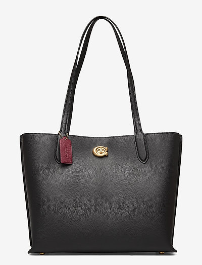 WILLOW TOTE Leather Womens Bags - shoppingväskor - black