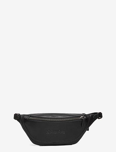LEAGUE BELT BAG Smooth Leather Mens Bags - väskor - jiblk