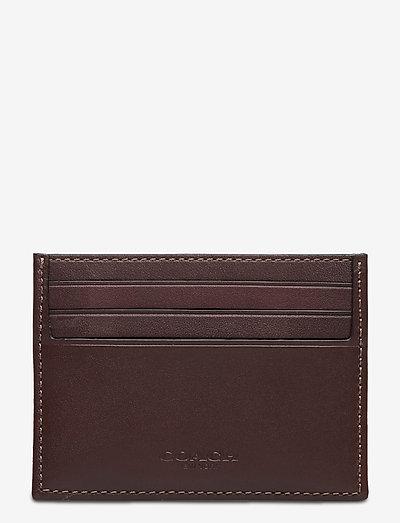 REFINED FLAT CARD CASE Non Leather Mens Wallets - plånböcker & fodral - oak