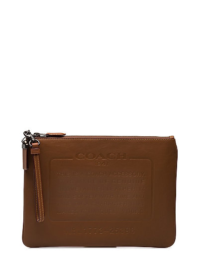 Story Patch Pouch In Washed Sport Calf - SADDLE