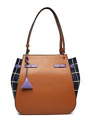 Didi Tiles Print Bags Top Handle Bags Brun COCCINELLE