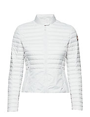 LADIES DOWN JACKET - 001 WHITE-LIGHT STEEL